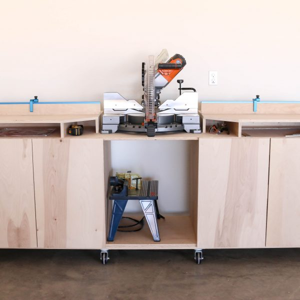 learn how to build a mobile miter saw bench