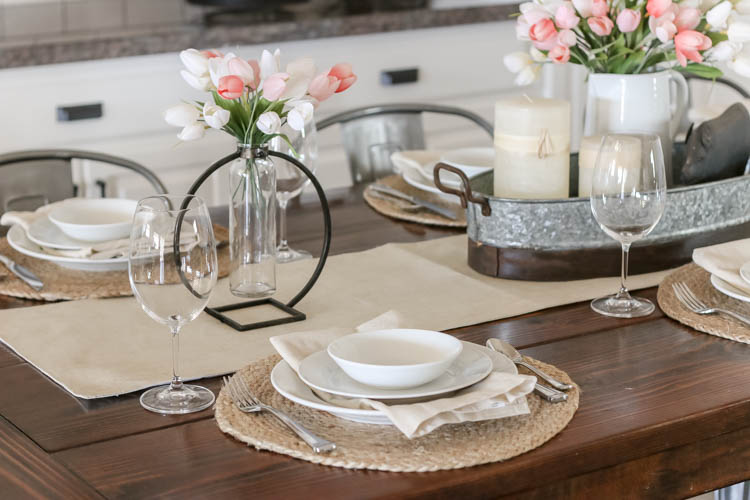 neutral spring place setting