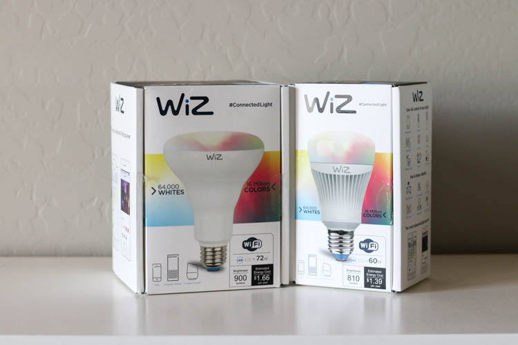 WiZ smart LED light bulbs