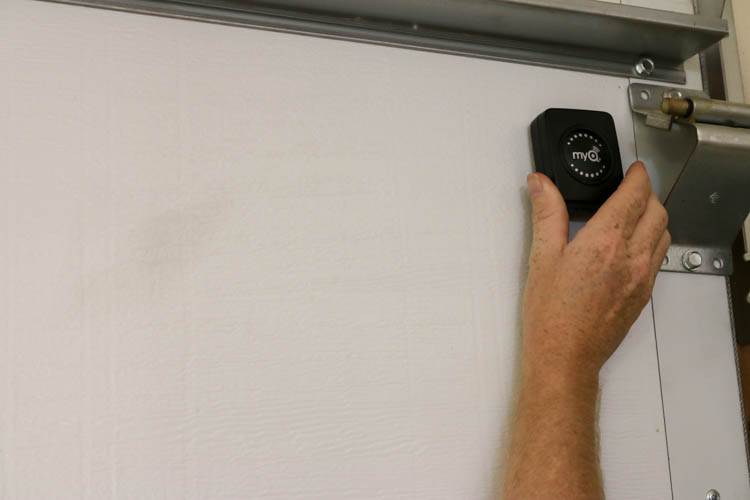 Setting up garage door sensor