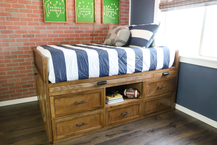 Learn how to build this beautiful and functional DIY storage bed that also includes a hidden storage compartment