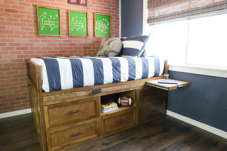 How To Build A Diy Full Size Captain S Bed With Hidden Storage