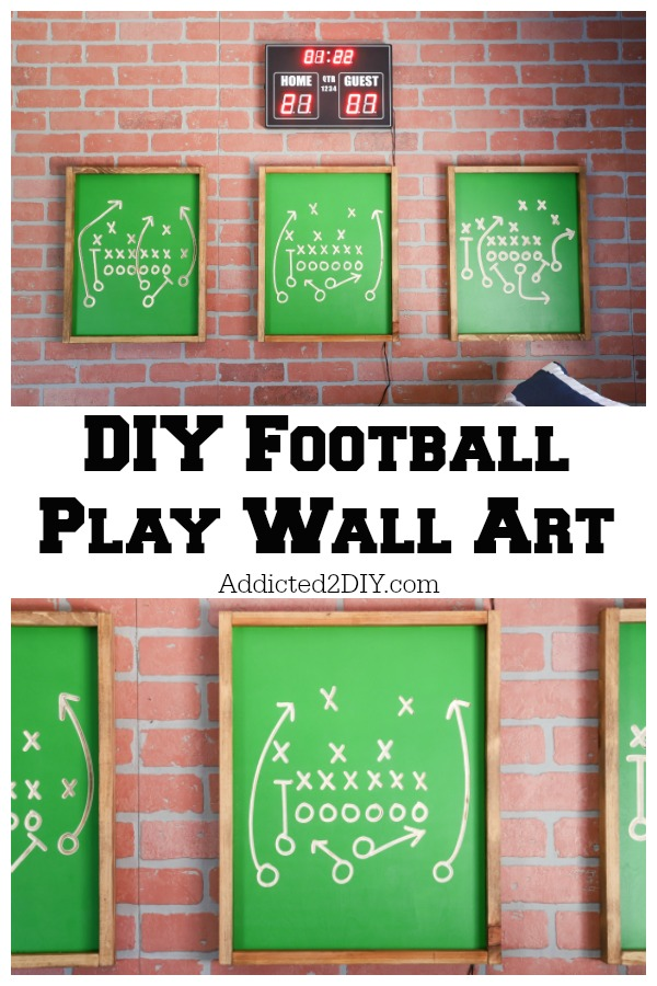 DIY Football Play Wall Art Pin