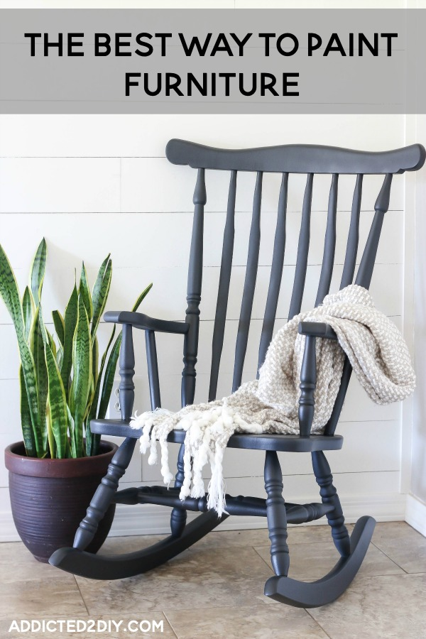 How To Paint A Rocking Chair