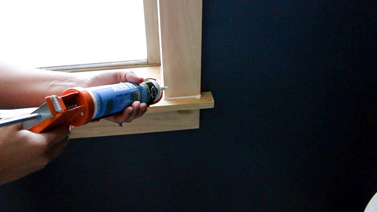 caulking window trim
