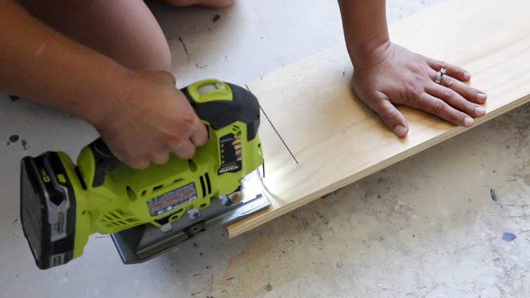 cutting notches on window sill board
