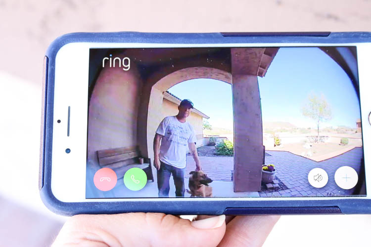 view from the Ring video doorbell