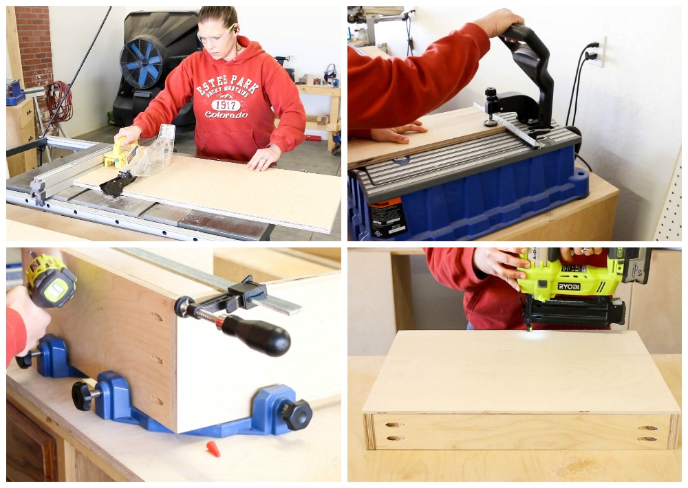 building drawer for router table