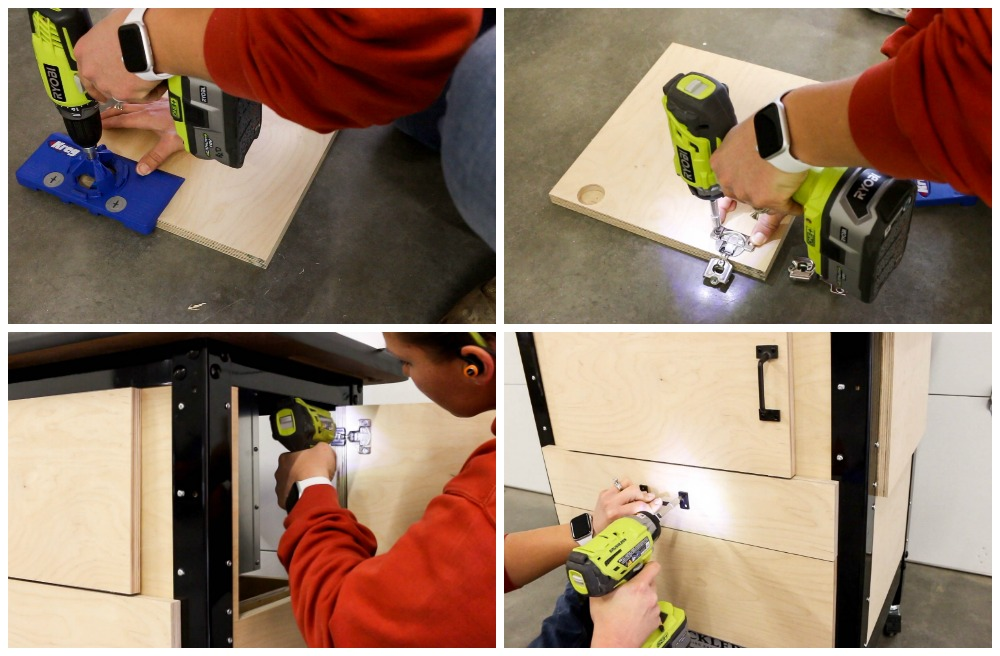 installing door hinges and hardware