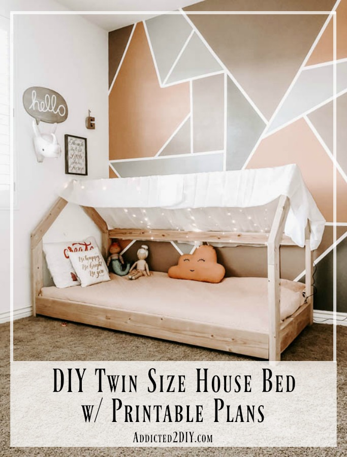new style d0806 8193a How To Build A Twin Size House Bed - Addicted 2 DIY