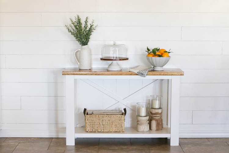 How To Build A Farmhouse Console Table