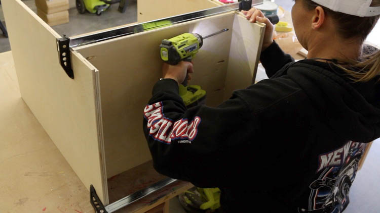 Attaching Sides of Cabinet To Base