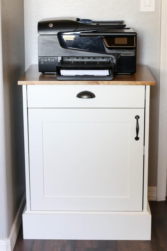 Modern Farmhouse Printer Cabinet