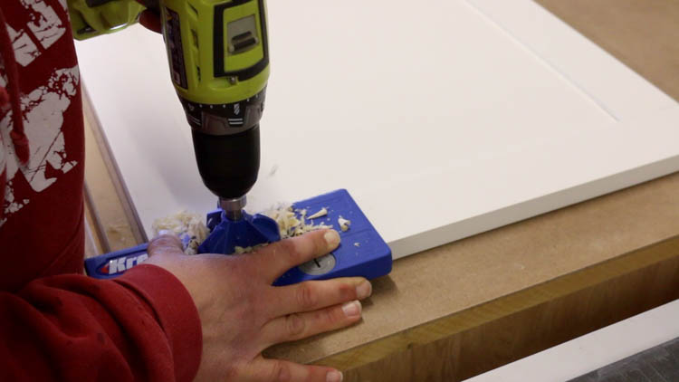 drilling mortises for cabinet doors-2