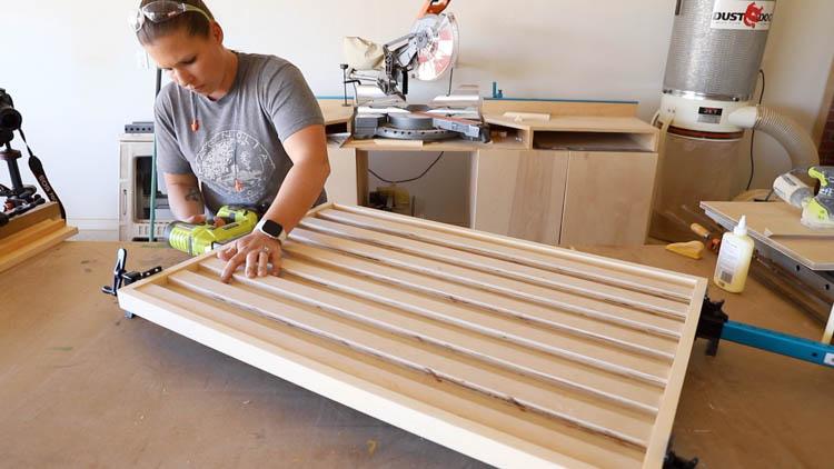 nailing frame to organizer