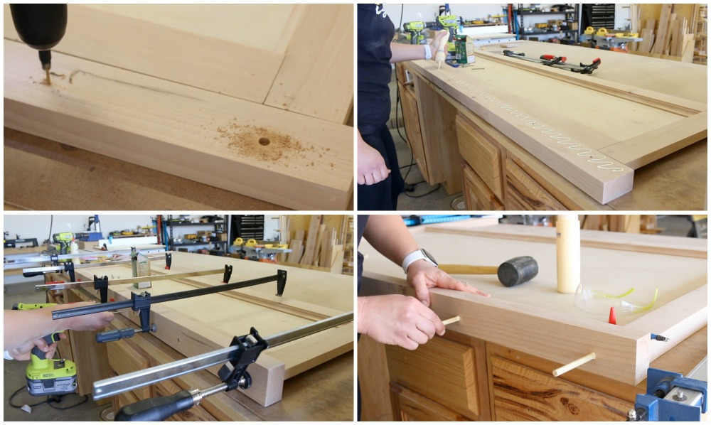 Attaching top board to footboard