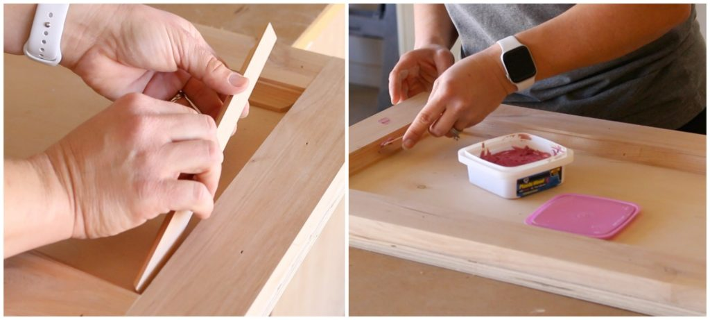 adding cove moulding and filling nail holes