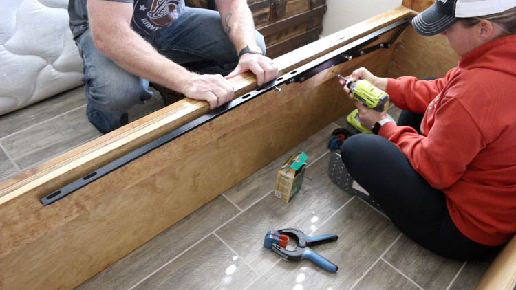 attaching side cleats to bed platform