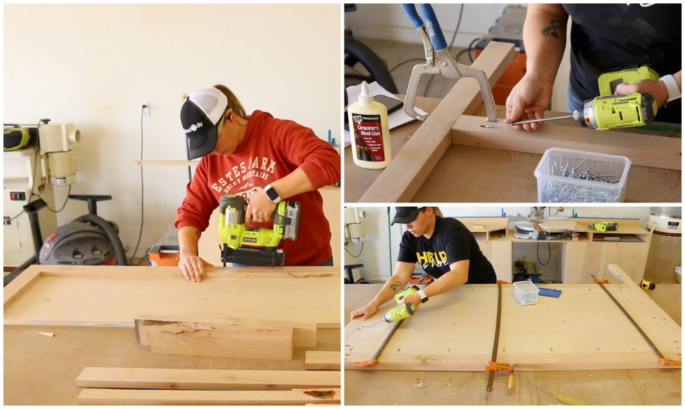 building the sideboards and headboard