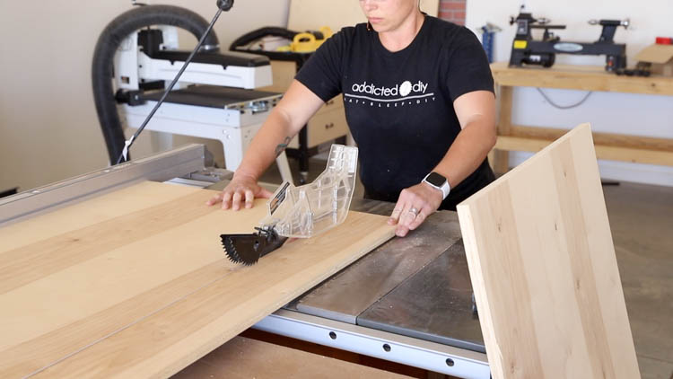 ripping plywood down on table saw