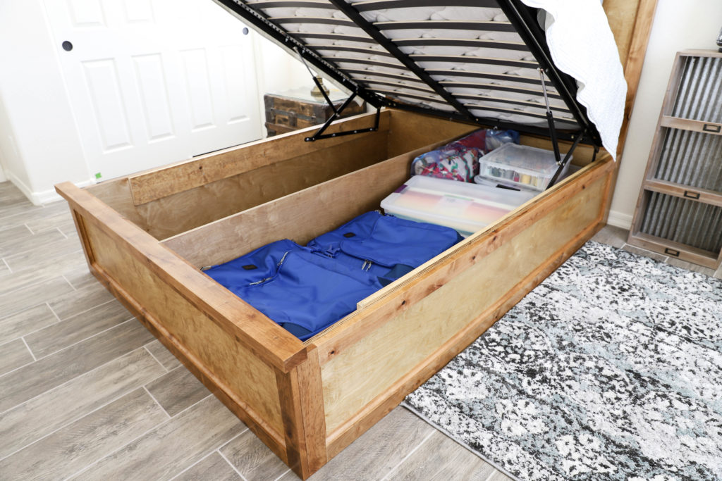 Image of: How To Build A Queen Size Storage Bed Addicted 2 Diy