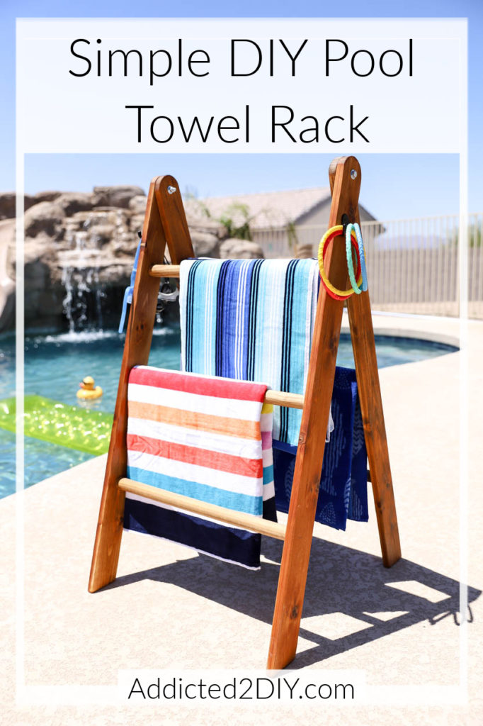 Simple DIY Pool Towel Rack