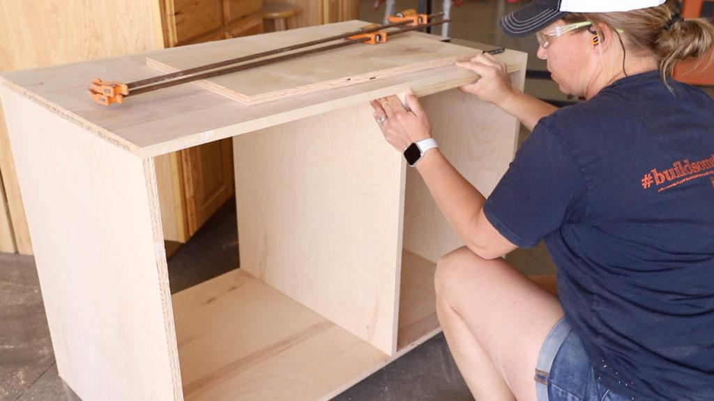 installing the center divider