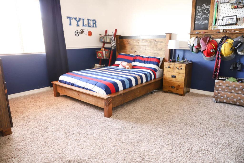 Teen boy bedroom, before