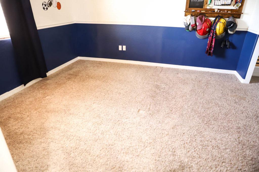 Bedroom flooring, before