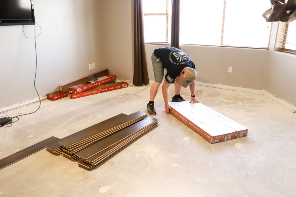 unpacking laminate flooring
