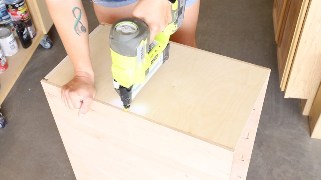 attaching the back to the cabinet