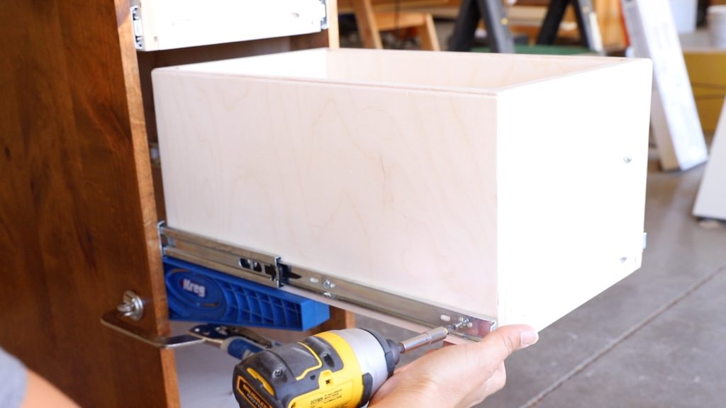 installing the drawers