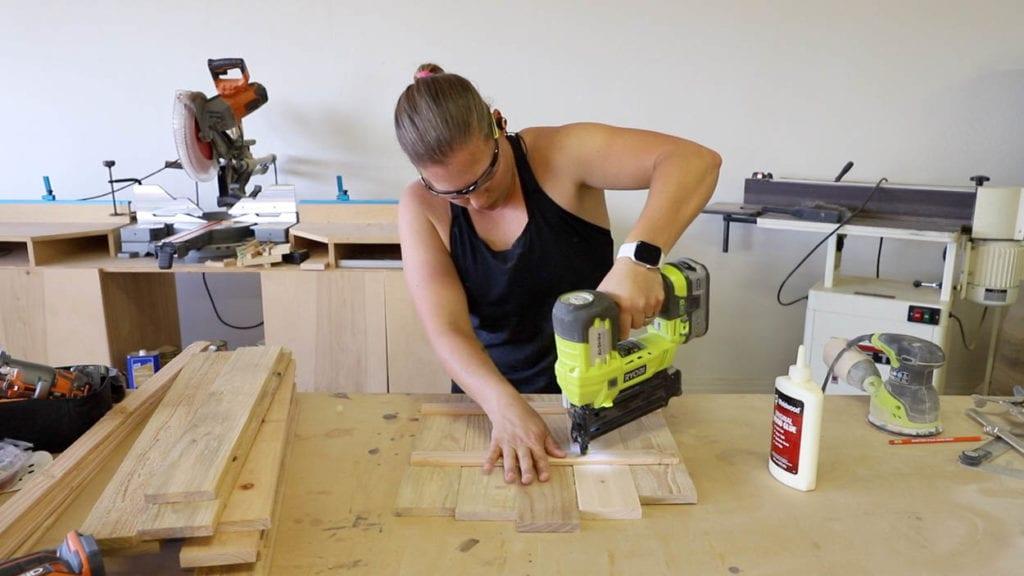 nailing cedar panels