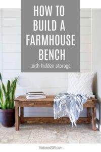 farmhouse storage bench pin