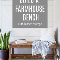 farmhouse storage bench pin