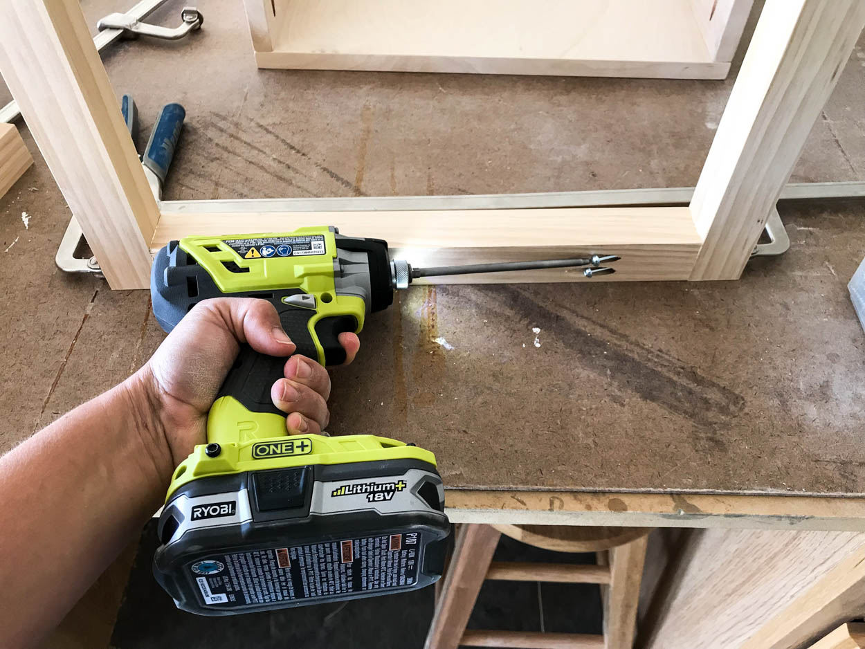 building the nightstand base