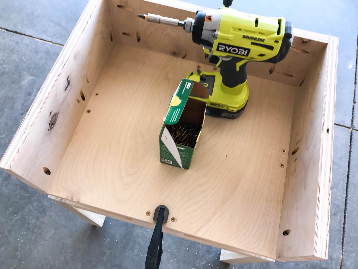build the nightstand top
