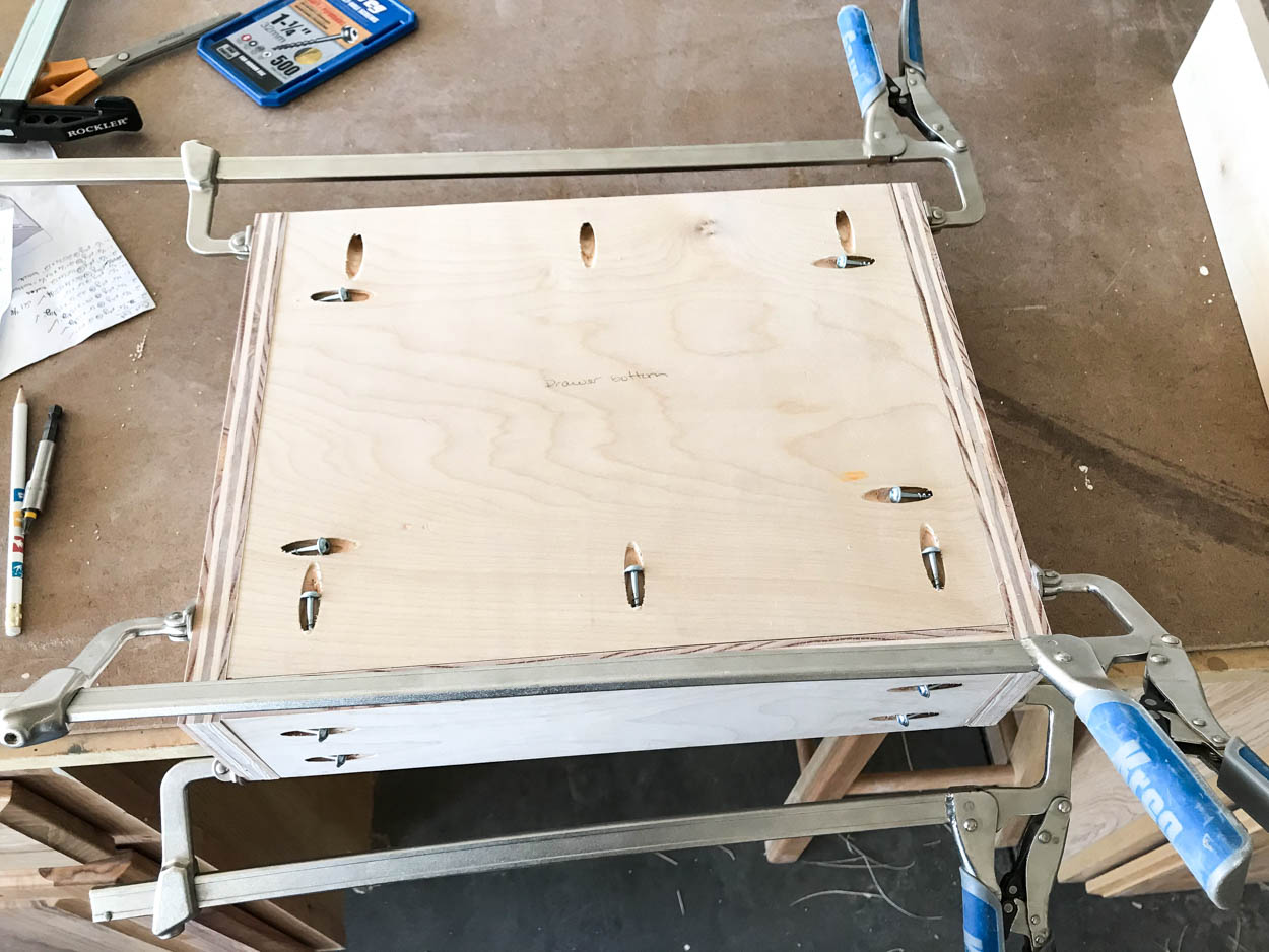 building the nightstand drawer