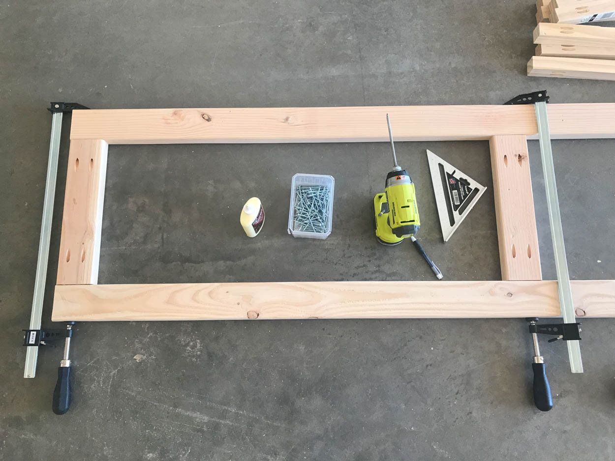building hall tree frame