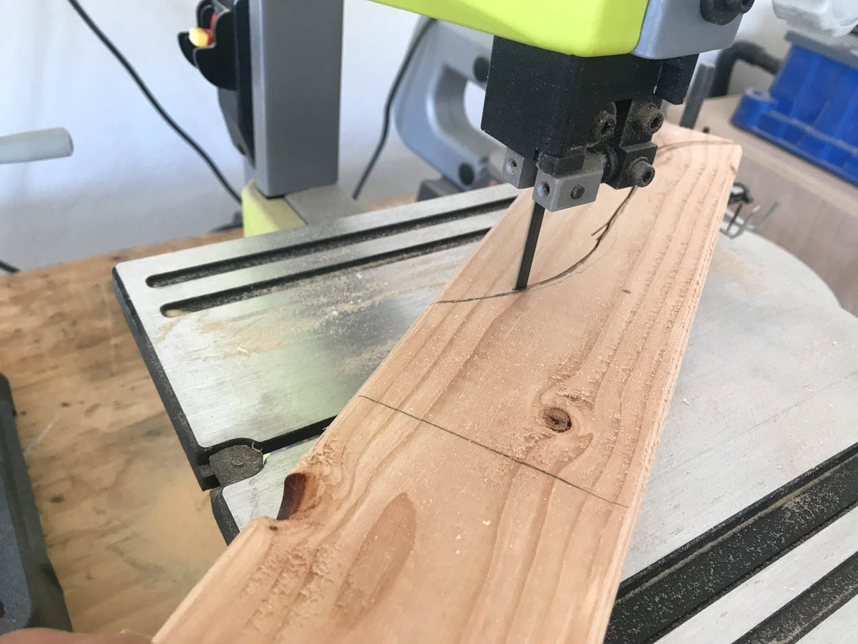 cutting the shelf supports