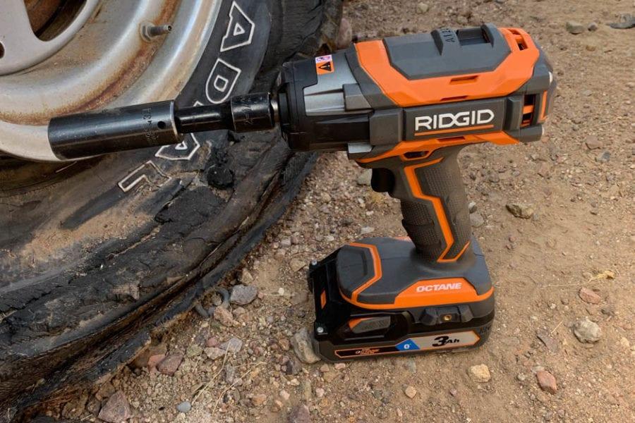 RIDGID impact wrench hero shot