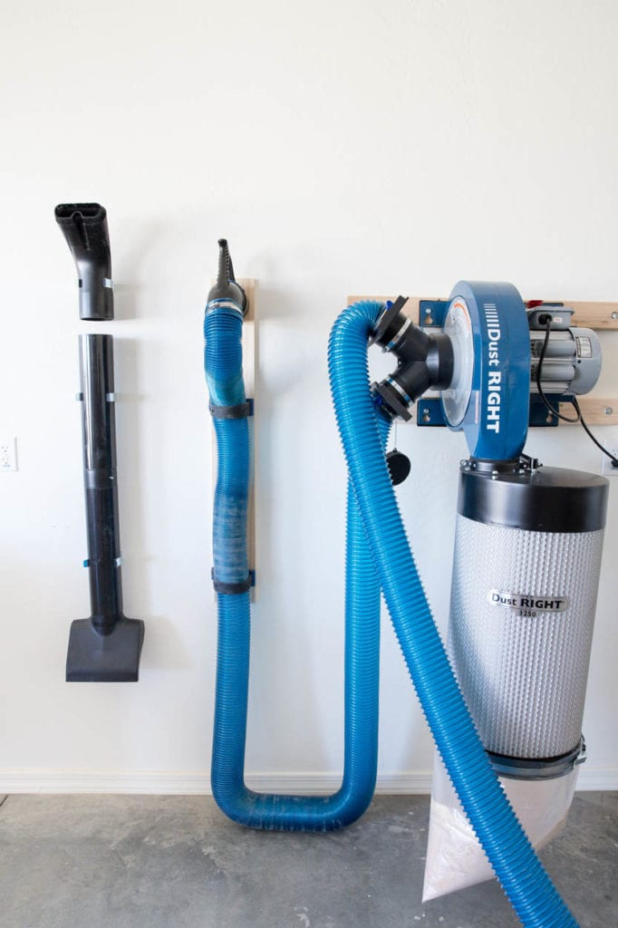 wall mount dust collection system