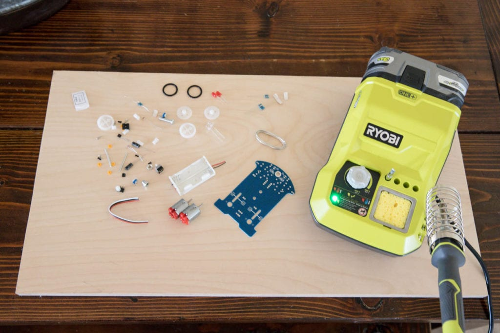 RYOBI soldering station with soldering kit