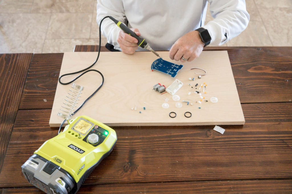 Soldering project with RYOBI soldering station
