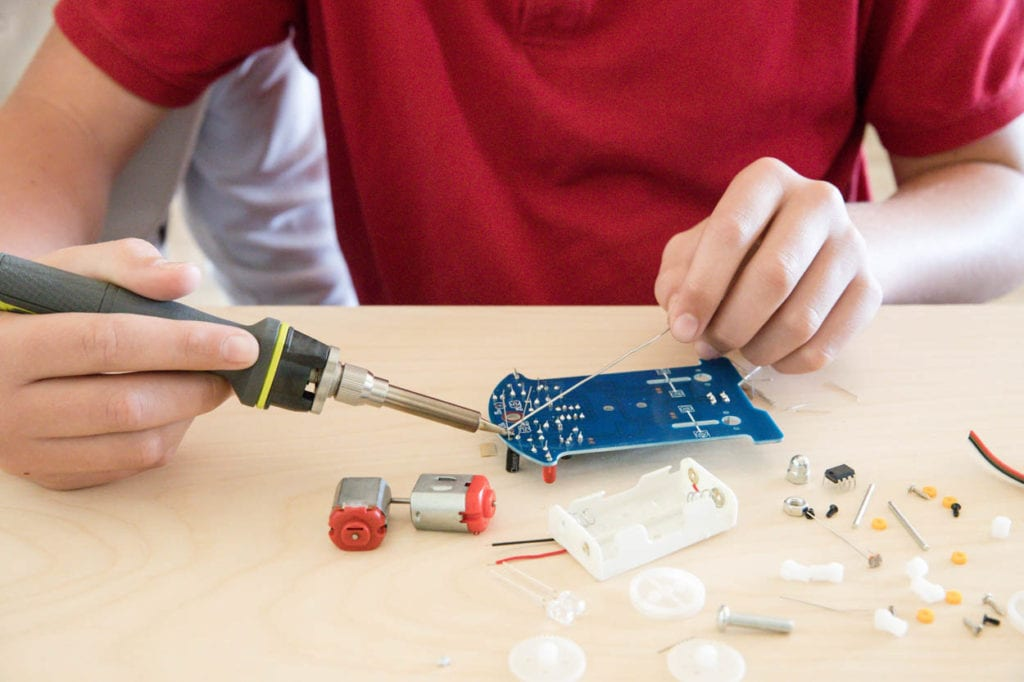 Soldering a circuit board project