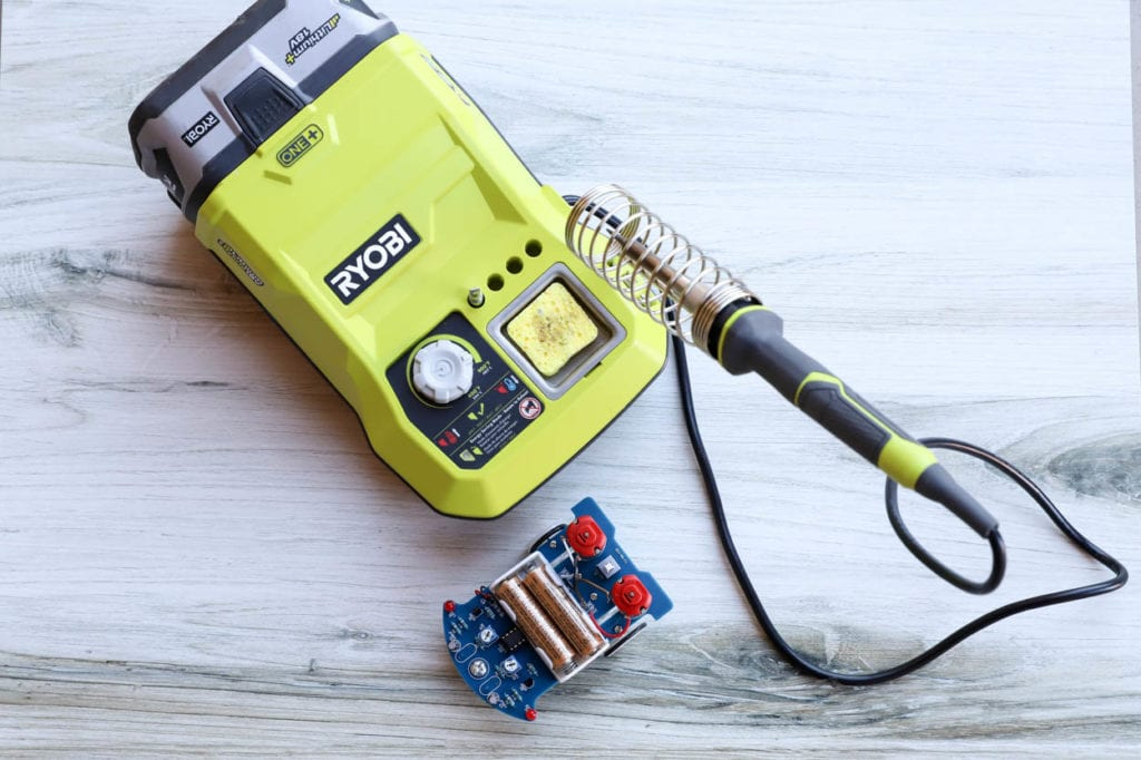 Soldering station with smart car kit