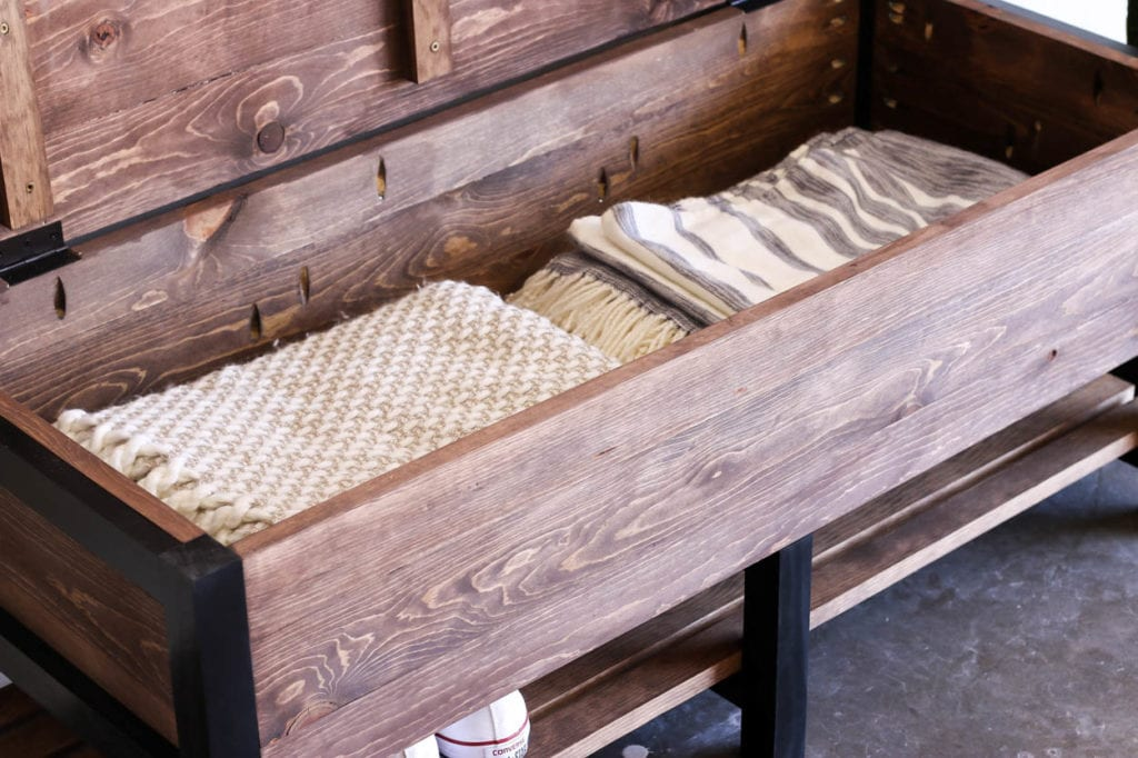 How To Build A Storage Bench For Under $100 - Addicted 2 DIY