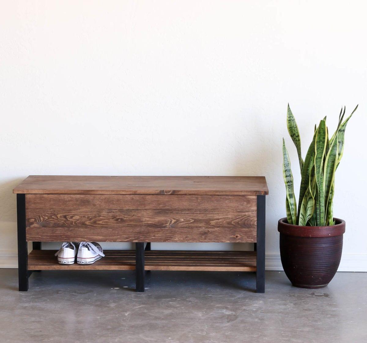storage bench front shot