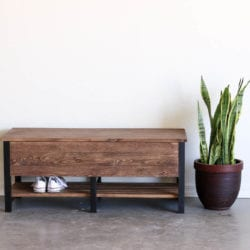 storage bench front shot