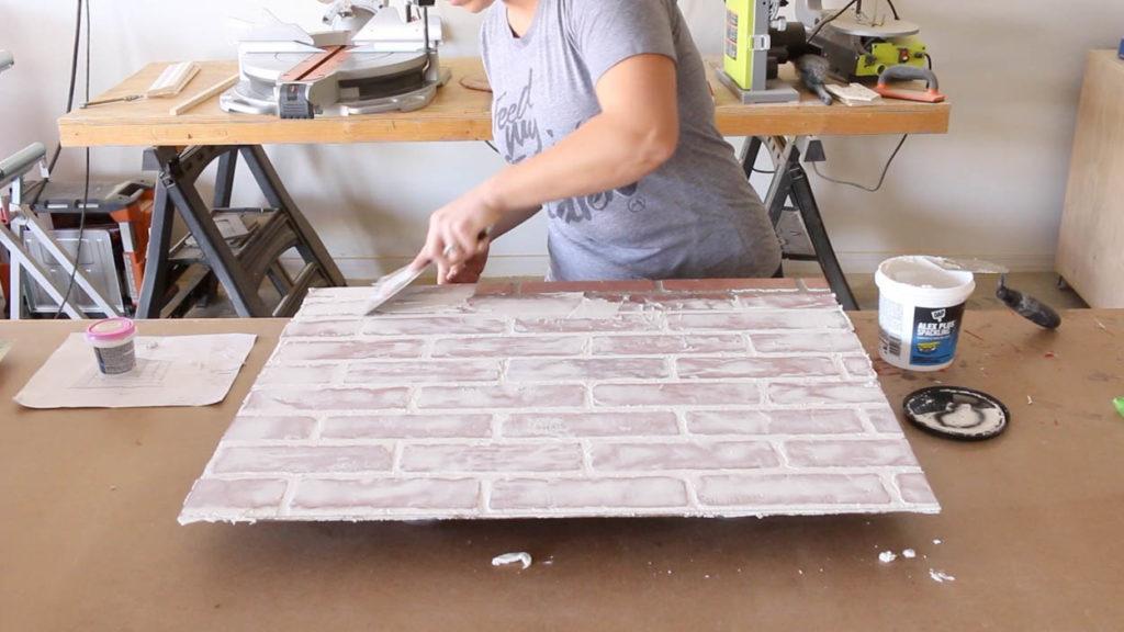 spackling faux brick
